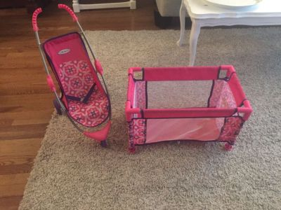 Graco doll stroller and playpen