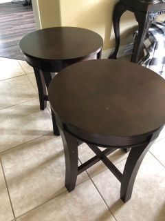PPU TODAY FOR $50.00 for 2 round end tables