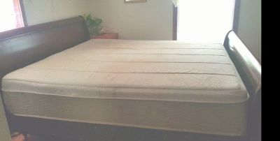 King Size Sleigh bed with Mattress and Box Spring