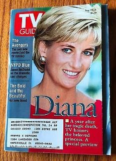 Princess Diana, the Avengers, NYPD Blue - 1998 TV Guide