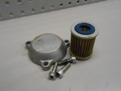 Find Y39 Yamaha YFM350 Raptor 2012 Quad Four Wheeler Engine Oil Filter w Cover motorcycle in Ann Arbor, Michigan, United States, for US $12.00