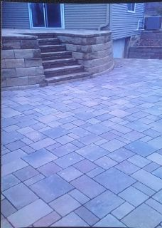 Landscaping retaining walls and brick pavers