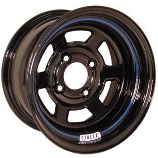 "Sell Circle Racing Wheels Series 11 Black Wheel 13""x8"" 4x100mm BC Set of 2 motorcycle in Tallmadge, OH, US, for US $169.94"