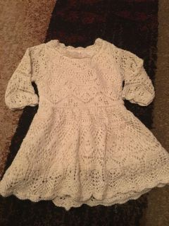 Cat & Jack 12m off wht/gold lace dress - Ppu (near old chemstrand & 29) or PU @ the Marcus Pointe Thrift Store (on W st)