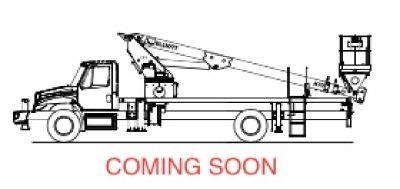 2001 Elliott H70F Sign & Light Crane for Sale-Mounted on 2001 International 4900 chassis