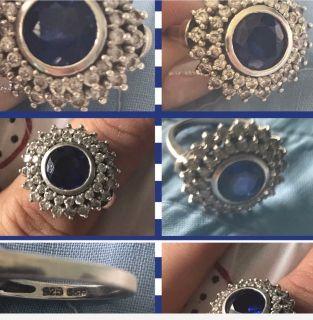 Ravishing Sterling Silver Sapphire Ring