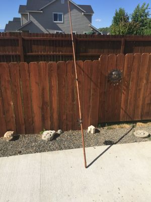 Antique 10 1/2 Bamboo Cane Pole/ Pfleuger Reel