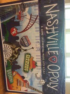 Nashville Opoly board game new in box