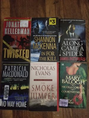 6 softcover books
