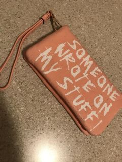 Quirky wallet wristlet