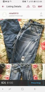 Silver Mens 29x30 Jeans