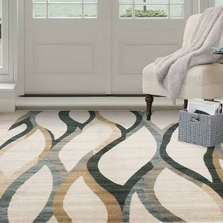 Lavish Home Area Rug Casual Contemporary