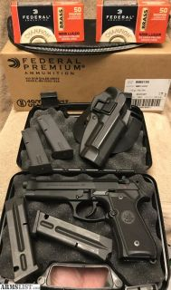 For Sale: Beretta 92FS. Extras. 1,000 rounds ammo