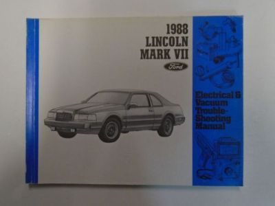 Buy 1988 Lincoln Mark VII 7 Electrical Wiring Diagrams Manual Factory OEM Book Used motorcycle in Sterling Heights, Michigan, United States, for US $19.95