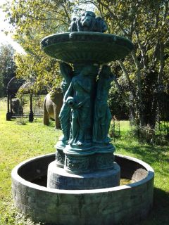 Bronze 4 Seasons Fountain with Bronze Basin and Stand