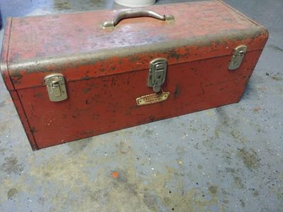 CRAFTSMAN Vintage Toolbox mid-century (crown era) Chest style with Tray