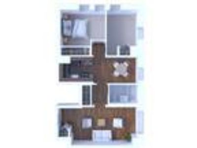 The Flamingo Apartments - Two BR Floor Plan B1
