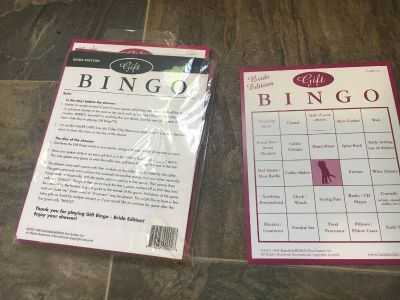 Bingo game for bridal party