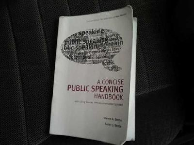 $12 C&J 130: A concise public speaking handbook