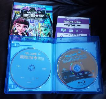 Welcome To Monster High Blu-Ray/DVD Movie