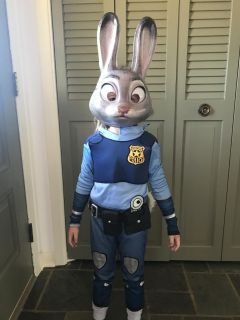 Judy Hopps Costume outfit, belt and mask size 4/5