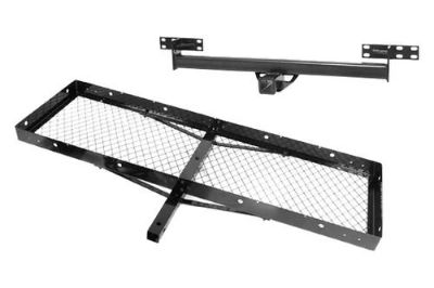 Sell Rugged Ridge 11580.21 - Jeep Wrangler Rear Trailer Hitch w Receiver w Cargo Rack motorcycle in Suwanee, Georgia, US, for US $134.96