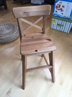 Solid wood kid high chair