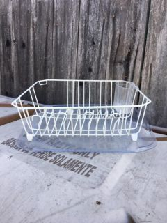 Dish Drain rack w/pad and Utensil Cup