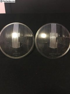 Early ghia nos German Bosch headlight glass pr