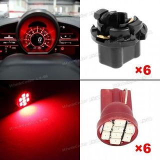 Buy 6xPC192 T10 8 3020 Epistar Red LED SMD 16mm W5W Light Car Vehicle Gauge Lamp motorcycle in Milpitas, California, United States