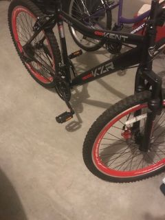 Men's black and red bike
