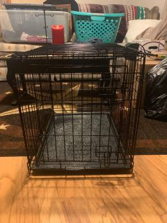 Small 24 inch dog crate with cover