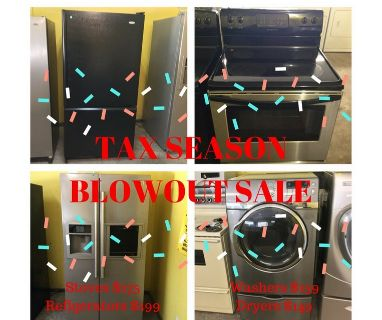 USED APPLIANCE SALE