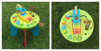 Wood Activity Table, used condition **READ PICK-UP DETAILS BELOW
