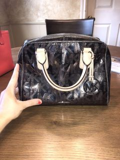 Silver Michael Kors Purse with Extra Strap