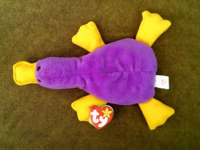 (Rare) TY Beanie Baby 93 PATTI The PLATYPUS Style 4025 with 3 Errors PVC