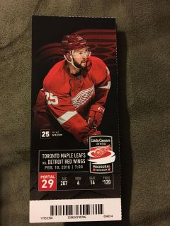 4 pack Red Wings Tickets