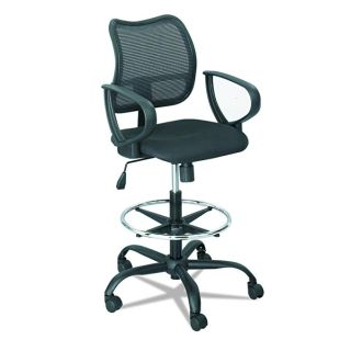 NEW-Safco Black Office Chair: Vue Series, Extended Height Chair w/ footrest