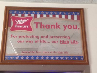 Miller High Life - Thank You Veterans Mirror - Reduced