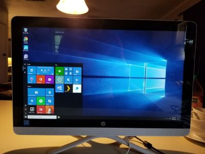 HP Snow White 22-b013w All-in-One touch screen Desktop PC