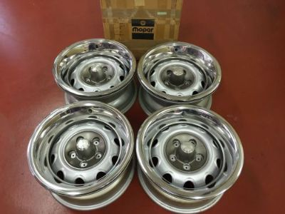 "Buy OE PLYMOUTH,DODGE 15"" X 7"" RALLY RIMS CUDA,CHALLENGER,CHARGER,ROADRUNNER,2944390 motorcycle in Homer Glen, Illinois, United States, for US $1,299.00"