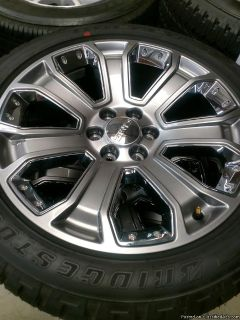 "22"" GMC Yukon Denali LT wheels and Tires brand new just took off no miles"