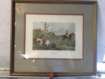 Vintage Fox Hunting Etchings
