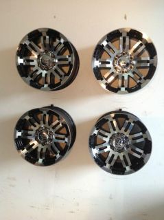"Purchase Set 4 16"" Vision Warrior 6 lug Chevy Truck Wheels Rim Black Machined GMC 1500 motorcycle in Holt, Michigan, US, for US $441.75"