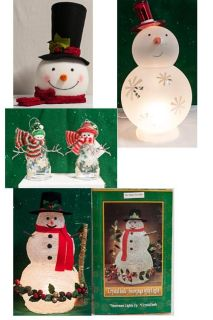 Holiday Snowman Decor - various prices