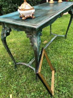 Sofa table. Tuscany style! Cross posted.