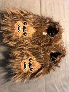 Kids 11/12 Star Wars Chewbacca slippers