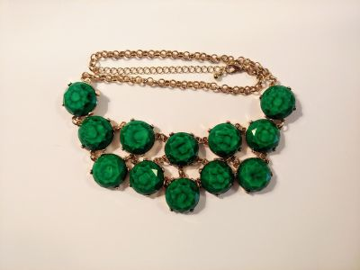 Emerald-green Chunky Necklace