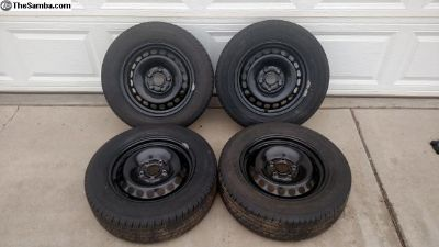 VW/Audi 15 Inch Steel Wheels and Tires