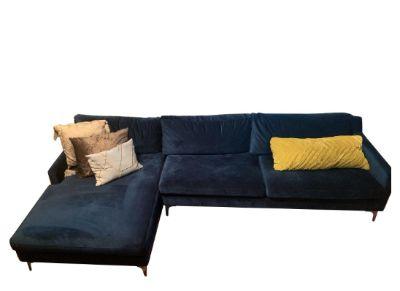 Dark Blue Velvet Sectional
